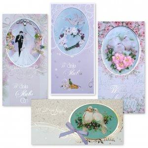 Karnet haftowany (wzory ślubne)